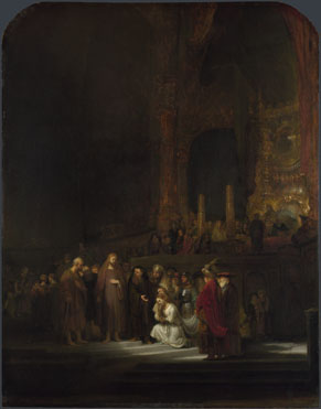 Rembrandt: 'The Woman taken in Adultery'