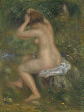 Pierre-Auguste Renoir: 'A Bather'