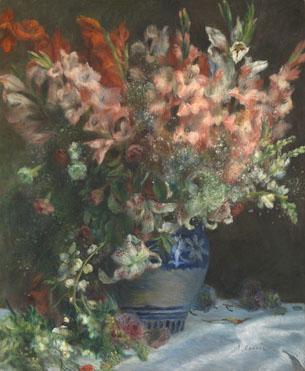 Pierre-Auguste Renoir: 'Gladioli in a Vase'