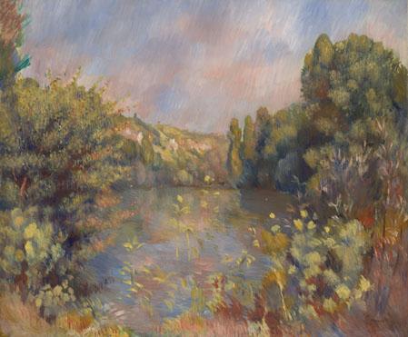 Pierre-Auguste Renoir: 'Lakeside Landscape'