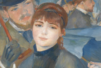 Detail from Renoir, 'The Umbrellas', about 1881-6