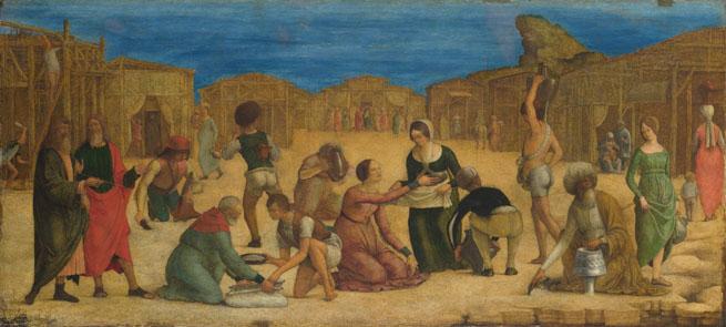 Ercole de' Roberti: 'The Israelites gathering Manna'