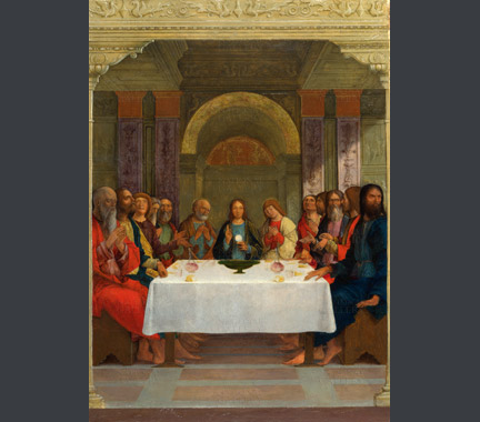 Ercole de' Roberti: 'The Institution of the Eucharist'.