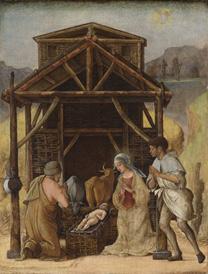 Ercole de' Roberti: 'The Nativity'.