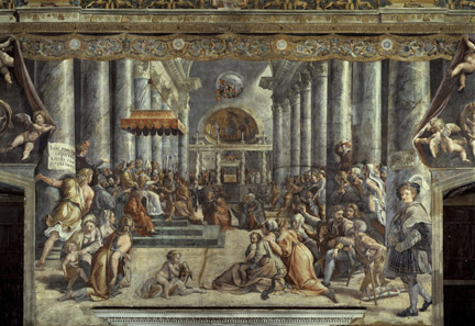Giulio Romano: 'The Donation of Rome'.