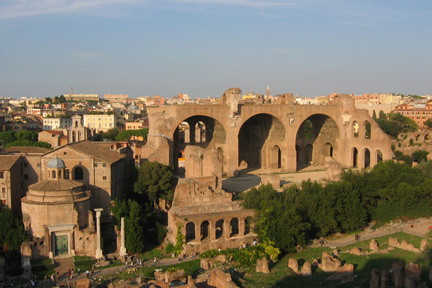 The Basilica of Constantine or Maxentius, Rome.