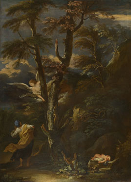 After Salvator Rosa: 'An Angel appears to Hagar and Ishmael in the Desert'