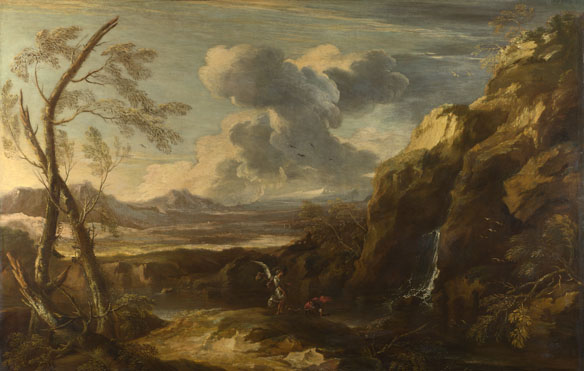Salvator Rosa: 'Landscape with Tobias and the Angel'