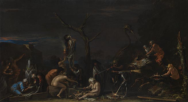 Salvator Rosa: 'Witches at their Incantations'