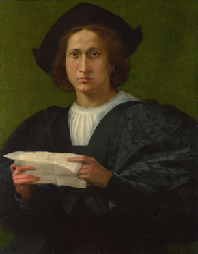 Rosso Fiorentino: 'Portrait of a Young Man holding a Letter'