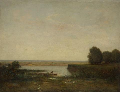 Théodore Rousseau: 'River Scene'