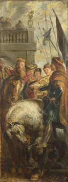 Peter Paul Rubens: 'Kings Clothar and Dagobert dispute with a Herald'