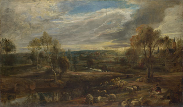 Peter Paul Rubens: 'A Landscape with a Shepherd and his Flock'