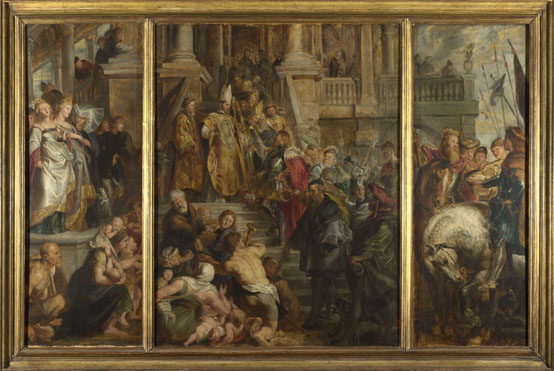 Peter Paul Rubens: 'Oil Sketch for High Altarpiece, St Bavo, Ghent'