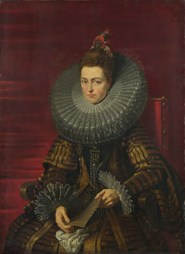 Attributed to the Studio of Peter Paul Rubens: 'Portrait of the Infanta Isabella'