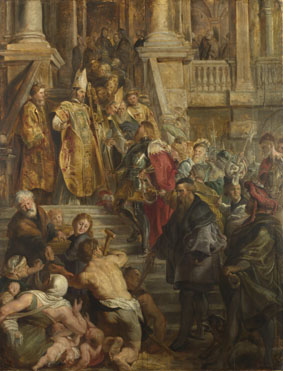 Peter Paul Rubens: 'Saint Bavo is received by Saints Amand and Floribert'