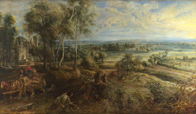Peter Paul Rubens: 'A View of Het Steen in the Early Morning'