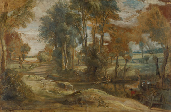 Peter Paul Rubens: 'A Wagon fording a Stream'