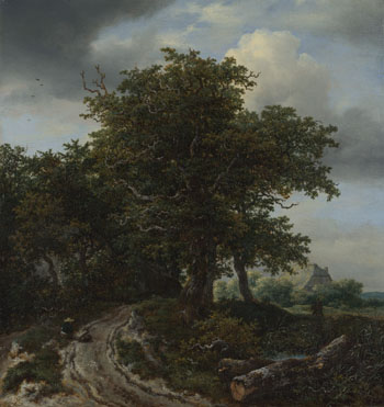Jacob van Ruisdael: 'A Road winding between Trees towards a Distant Cottage'