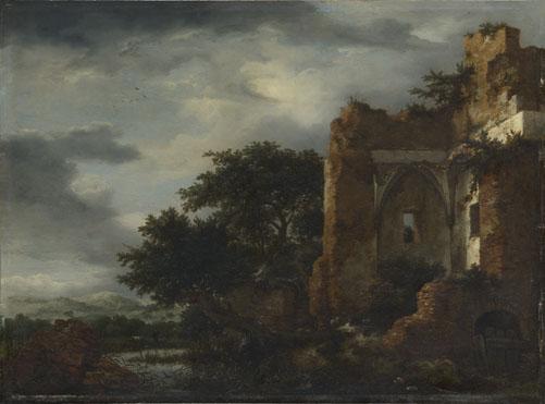 Jacob van Ruisdael: 'Ruins in a Dune Landscape'
