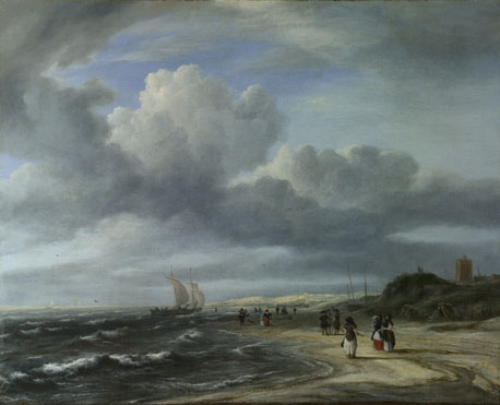 Jacob van Ruisdael: 'The Shore at Egmond-aan-Zee'
