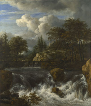 Jacob van Ruisdael: 'A Waterfall in a Rocky Landscape'