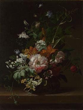 Rachel Ruysch: 'Flowers in a Vase'