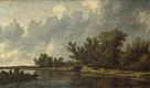 A River Landscape with Fishermen