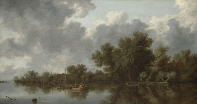 Salomon van Ruysdael: 'River Scene'