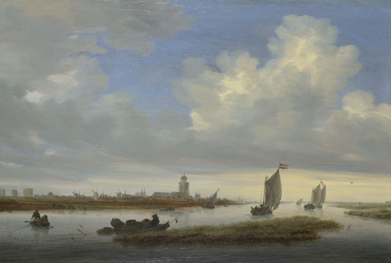 Salomon van Ruysdael: 'A View of Deventer seen from the North-West'