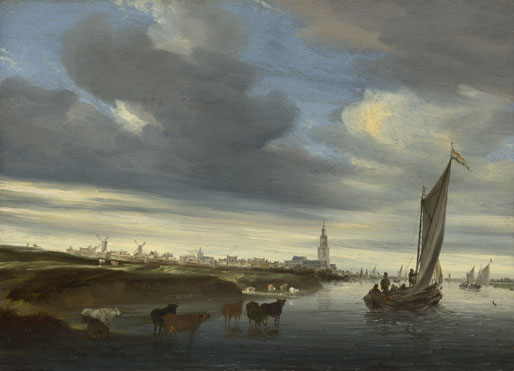 Salomon van Ruysdael: 'A View of Rhenen seen from the West'