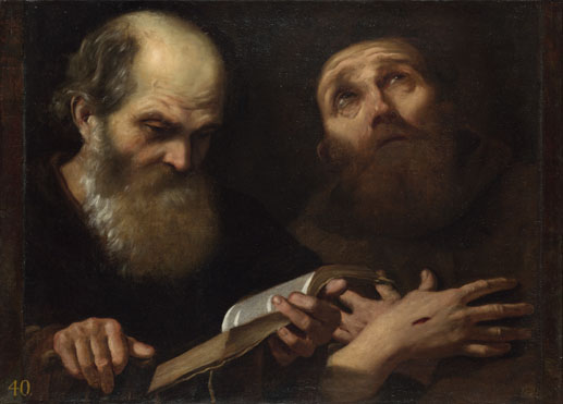 Andrea Sacchi: 'Saints Anthony Abbot and Francis of Assisi'