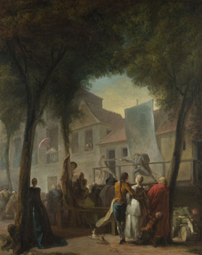 Gabriel-Jacques de Saint-Aubin: 'A Street Show in Paris'