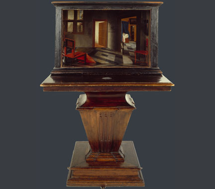 Samuel van Hoogstraten, 'A Peepshow with Views of the Interior of a Dutch House', about 1655-60