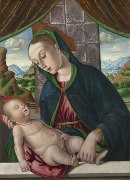 Giovanni Santi: 'The Virgin and Child'