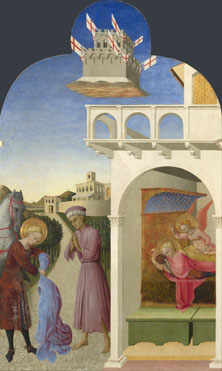 Sassetta: 'Saint Francis and the Poor Knight, and Francis's Vision'