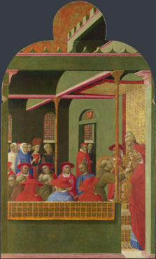 Sassetta: 'Saint Francis before Pope Honorius III'