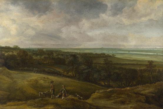 Cornelis van der Schalcke: 'An Extensive River Landscape'