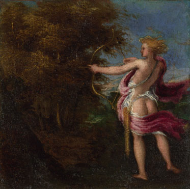 Attributed to Andrea Schiavone: 'A Mythological Figure'