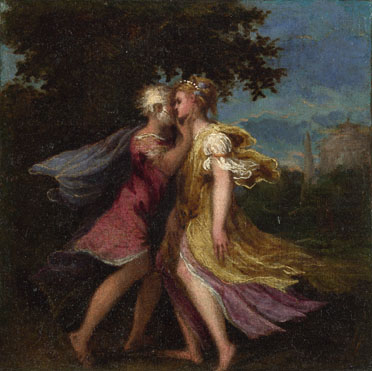 Attributed to Andrea Schiavone: 'Two Mythological Figures'