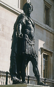 James II Statue in Front of National Gallery