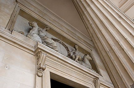 Statues above the Portico