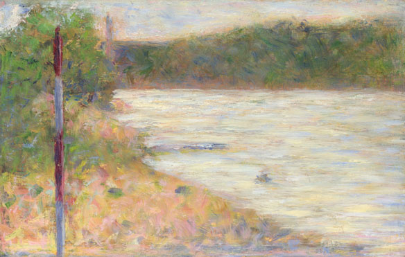 Georges Seurat: 'A River Bank (The Seine at Asnières)'
