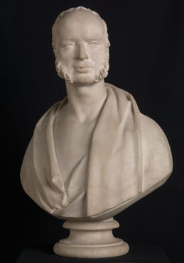 Attributed to Robert William Sievier: 'Bust Portrait of Wynn Ellis MP'