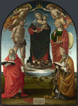 Luca Signorelli: 'The Virgin and Child with Saints'