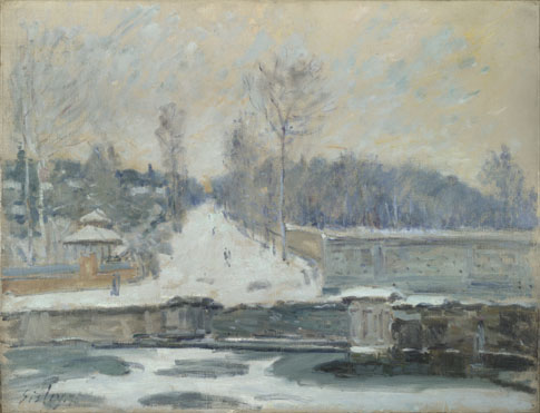 Alfred Sisley: 'The Watering Place at Marly-le-Roi'