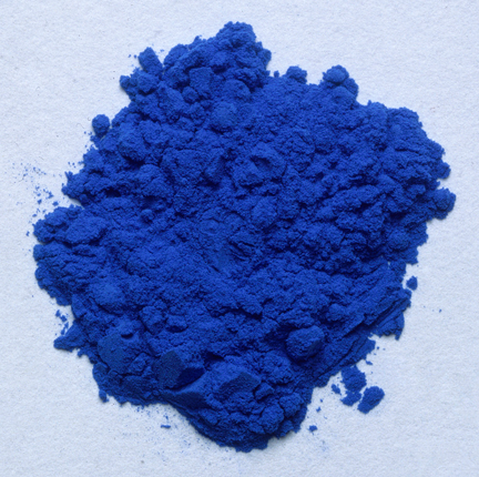 Smalt prepared as a pigment