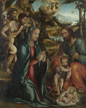 Follower of Sodoma: 'The Nativity with the Infant Baptist and Shepherds'