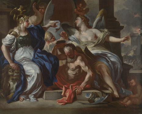 Francesco Solimena: 'An Allegory of Louis XIV'