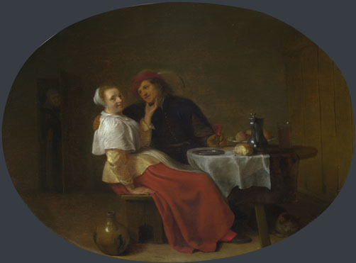 Hendrick Sorgh: 'Two Lovers at Table'